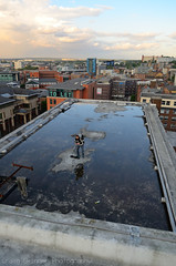 Sovereign House, Sheffield - Aug/Sep '14 (Craig Skinner - www.craigskinnerphotography.co.uk) Tags: park roof urban house reflection building english ice sport skyline court hotel office nikon surf apartments lift sheffield yorkshire elevator surfing victoria institute flats hyde urbanexploration trespass gateway crown block vulcan mitchell derelict irwin ue sovereign soverign southyorkshire derp rooftopping iquarter d7000
