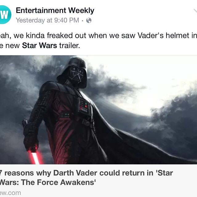 Star war villain returns