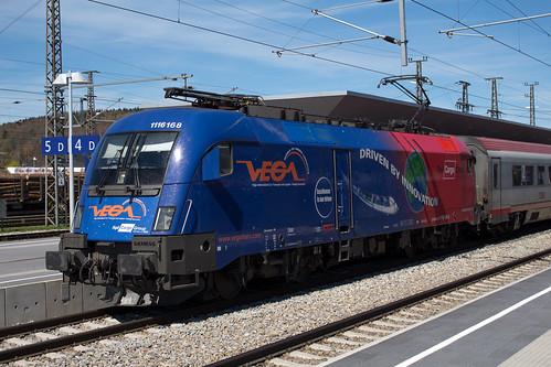 """ÖBB """"Vega"""" 1116 168 in Attnang-Puchheim"""