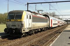 NMBS Electric locomotive N 1804 with a double decktrain. (Franky De Witte - Ferroequinologist) Tags: de eisenbahn railway estrada chemin fer spoorwegen ferrocarril ferro ferrovia