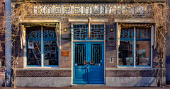 Buttoned up (Jorden Esser) Tags: door windows amsterdam shop buttons button ddd bluedoor shopfront select tdd closedshop knopenwinkel nederlandvandaag gabletext thursdaydoorday thursdaydoorsday