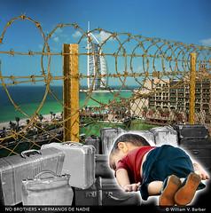 130-HermanosDeNadie (William V. Barber) Tags: africa dubai muerte solidaridad mafia hambre siria pobreza patera humanidad refugiados guerras inmigracin emigracin aylankurdi