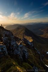The photographer (Camillo Berenos) Tags: uk sunset cliff mountain scotland photographer britain ridge exposed kintail scottishhighlands mountainphotography