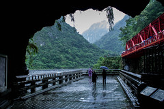 Taroko National Park (Melissa Boodoo) Tags: world china old trip travel blue trees sea vacation people plants history nature water architecture contrast river garden dark landscape outside outdoors boat town pond workers rocks asia stream moody village outdoor exploring hill salt paddle taiwan tourist wanderlust explore boating mountainside traveling waterway bold foothill anicent viberant