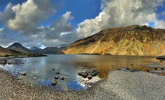 Wastwater, The Lake District at Sunset (davebyford01) Tags: sunset england mountains water reflections nationalpark rocks shoreline lakes cumbria nationaltrust thelakedistrict worldtrekker
