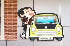 Bangkok - MAY 26, 2016 : Mr. Bean Pop-up Paper Dicut in front of Mr. Bean Cafe. Mr. Bean is British comedy television programme series written by and starring by Rowan Atkinson as the title character. (enchanted.fairy) Tags: