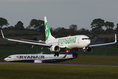 F-HTVA.EDI150516 (MarkP51) Tags: plane airplane scotland airport nikon edinburgh image aircraft aviation boeing edi airliner transavia egph b7378k2 d7200 markp51 fhtva