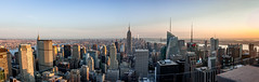 Manhattan Panorama Sunset (francis.mck.photo) Tags: america angle architecture building city cityscape day glass grass lens light long manhattan new newyork pano panorama skyscrapper sun sunset time wide wideangle yellow york