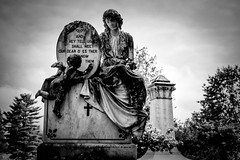 Shall We Gather (Marcela McGreal) Tags: blackandwhite bw white newyork black byn blancoynegro blanco cemetery branco blackwhite noir noiretblanc cementerio negro saratogasprings preto bn bianco blanc nero pretoebranco schwarz bianconero bnw biancoenero noirblanc blanconegro pretobranco weis greenridgecemetery schwarzundweis