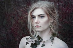 Not a queen, a Khaleesi (Alice Rose Photography) Tags: portrait woman nature beautiful beauty fashion hair photography model eyes nikon forrest earth ivy headshot human elements portraiture blonde styling nikond90