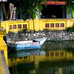 Cau Giay, Hanoi, Vietnam -3 (BryonLippincott) Tags: street city travel trees light summer people urban lake reflection art boat pond quiet candid documentary neighborhood vietnam explore alleyway moment hanoi decisivemoment vn hni