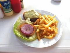 Cheeseburger - Sosua Beach (JaBB) Tags: food beach strand lunch essen dominicanrepublic burger cheeseburger mittagessen platanos sosua chickencordonbleu pommesfrites nahrung nahrungsmittel dominikanischerepublik
