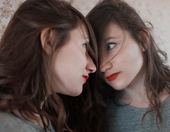 reflection (Ivan Ovchinnikov) Tags: portrait reflection girl face mirror lips select  chiile ivanovchinnikov