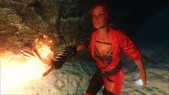 TESV - Flame-thrower (tend2it) Tags: kenb elder scrolls skyrim v rpg game pc ps3 xbox screenshot sweetfx enb krista demonica race sg lilith 161 lady hair pack triss merigold