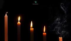 Metamorphosis - candle (Elisa.95) Tags: life light italy stilllife black wow fire nikon candle smoke details minimal exam luce metamorphosis buio speranza d700