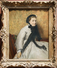 Edgar Degas - Portrait of a Woman in Gray 1865 (ahisgett) Tags: new york art museum met metropolitian