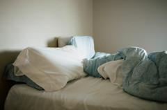 393220020012 (beck-chan) Tags: morning light sunlight film 35mm bed kodak sleep sheets pillows 400 paisley portra