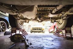 Carrier bearing and u-joint. (Shutter Theory) Tags: fix garage culture repair datsun undercarriage lakehughes bulletside pl620 ratsun doitinadatsun