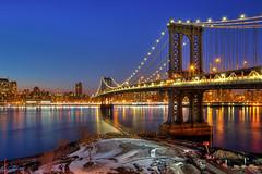 The Manhattan (Matthew Pugliese) Tags: nyc newyorkcity longexposure manhattanbridge bluehour hdr highdynamicrange lowermanhattan brooklynny newyorkcitybridges dumbobrooklyn nyclandmarks nycbrid