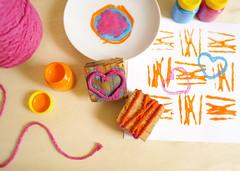Carimbo com barbante (PAP) (Ateliê Bonifrati) Tags: cute diy craft stamp tutorial pap stampcraft carimbo passoapasso bonifrati
