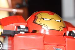 Hulkbuster Selfie (Jolphin) Tags: macro lego candid hard tony suit marvel stark joking avengers mech selfie exo hulkbuster