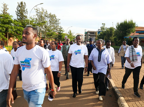 Kwibuka21 Walk to Remember in Kigali with First Lady Jeannette Kagame