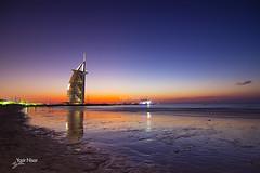 Burj Al Arab (Max Loxton) Tags: beach dubai uae burjalarab bluehour unitedarabemirates jumeirah nightscapes dxb yasirnisar pakistaniphotographer maxloxton dubainight ynphotography