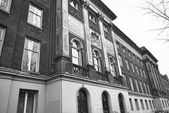Crooked Law (Noonski) Tags: bw amsterdam photography justice nikon bricks law crooked skewed