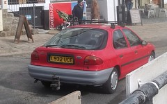 Ford Mondeo Mark 1 (occama) Tags: old uk red ford car one 1 cornwall diesel mark 1993 mk lx mondeo l923uce