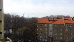 Elineberg - utsikt överst från hus 1, 2015-03-25