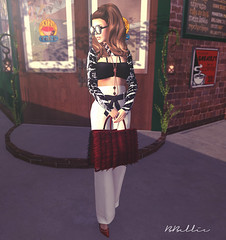 At Central Perk (Babi Bellic) Tags: portrait people sexy girl beauty fashion glasses skin sl secondlife virtual ikon poshpixels designercircle babigiobellic 7deadlyskins