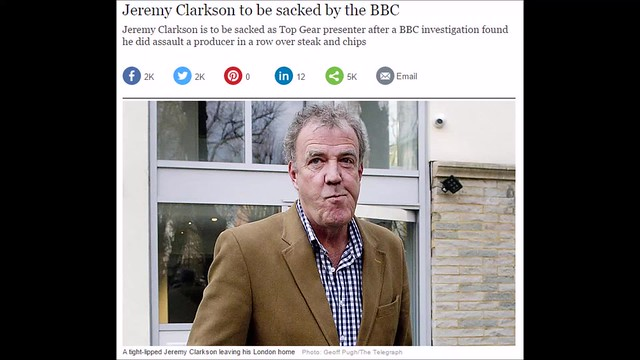 Jeremy Clarkson is officially fired from Top Gear