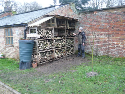 Jan 14 Topping up the woodstore