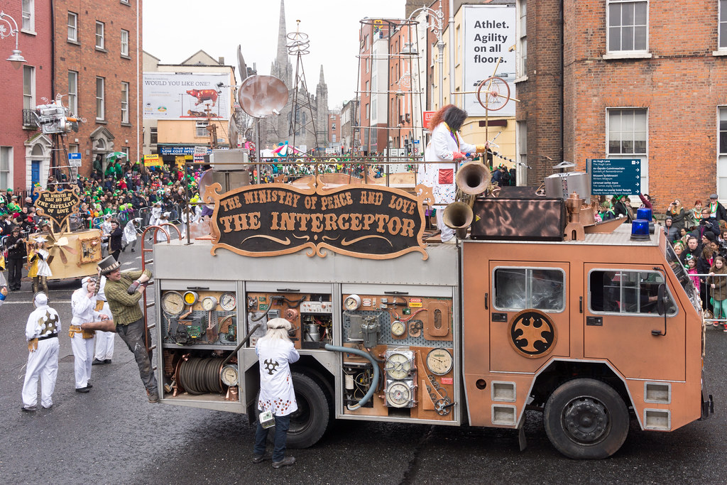 """INISHOWEN CARNIVAL GROUP """"THE MINISTRY OF PEACE AND LOVE"""" ST. PATRICK'S PARADE 2015- REF-102331"""