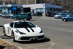 2014 Ferrari 458 Speciale (Rivitography) Tags: white newyork black car canon rebel italian italia connecticut stripes greenwich ferrari adobe t3 expensive rare supercar v8 horsepower speciale lightroom 2014 2015 458 rivitography ebk4797