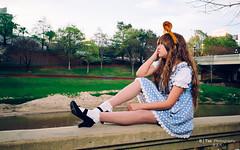 Lolis (btsephoto) Tags: park portrait cute lens 1 costume downtown fuji play cosplay f14 iii flash houston x lolita r kawaii pro fujifilm schoolgirl fujinon sesquicentennial lolis  xf 23mm xpro1 yongnuo yn560