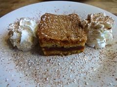 apple cake from Cafe Europa in San Francisco (Fuzzy Traveler) Tags: sanfrancisco apple cake dessert restaurant cream richmond sweets photostream comfortfood cafeeuropa easterneuropean