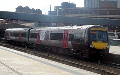CrossCountry Turbostar no. 170117 at Leicester, 22/04/2015. (MKT Transport Photography) Tags: airport cross leicester country trains db class crosscountry stanstead 170 bombardier regio arriva turbostar 2car 170117