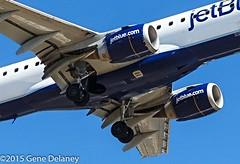 "jetBlue Airways, N298JB, 2009 Embraer ERJ-190AR (ERJ-190-100 IGW), MSN 19000249, FN 298, ""Cool Blue"" (Gene Delaney) Tags: boston massachusetts bos loganinternationalairport coolblue jetliners jetblueairways kbos arliners n298jb canonaviation 2009embraererj190arerj190100igw msn19000249 fn298"