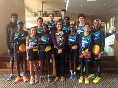 "Pre-departure meeting with Cathy Freeman • <a style=""font-size:0.8em;"" href=""https://www.flickr.com/photos/64883702@N04/17240283841/"" target=""_blank"">View on Flickr</a>"