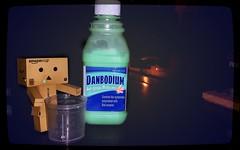 Danbodium, the anti-poopy medicine for toys (karmenbizet73) Tags: art toys photography flickr toystory photooftheday eyespy danbo 123365 danboard danbolove toysunderthebed 2015365photos danbodium
