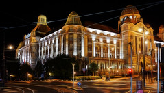Hotel Gellert & Spa, Budapest (Sterling750) Tags: night zeiss photoshop river twilight hungary shot vibrant sony budapest bank cc filter tone danube hdr embankment mapped samyang a7r fractalius