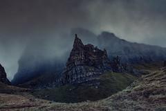 Scotch Mist (Andrew G Robertson) Tags: cloud mist mountain skye rock fog canon eos scotland hill 5d isle mkiii trotternish storr 2470mm firecrest