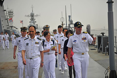 People's Liberation Army Officials Tour the USS Blue Ridge in Shanghai (#PACOM) Tags: japan captain usnavy underway flagship partnerships lcc19 ussblueridge uspacificcommand pacom