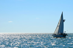 Warm Sun and Clear Skies Beckon (ChristopherSmith.Photo) Tags: ocean sea west water beautiful sunshine key sailing bright wind horizon relaxing boating