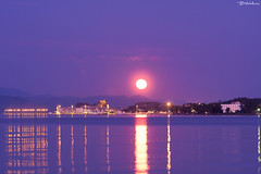 Rise of full Moon (Bill-Metallinos) Tags: ocean old travel sea summer sky moon seascape heritage beach water beautiful island town nightscape fort unesco full greece astrophotography astronomy nightsky corfu fortress astrophoto mediteranean kerkira metallinos astrolandscape astrocorfu