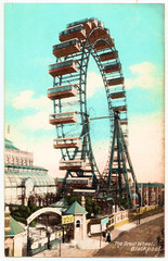 Blackpool - The Great Wheel (pepandtim) Tags: old wheel early postcard saxony great nostalgia nostalgic printed blackpool rbl 67tgw32