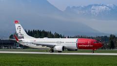 "Norwegian Air Shuttle Boeing 737-86N ""Edvard Munch"" | SZG (NilsT.) Tags: salzburg airport air norwegian shuttle edvard boeing flughafen munch 737800 lnnof"