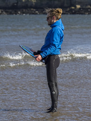 Skim Boarder 003 (KeithProvenArtist) Tags: sea beach sport scotland surf waves play fife standrews westsands skimboarder