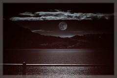 La luna e il lago (lefotodiannae) Tags: como lago monocromo la italia luna il e di lefotodiannae
